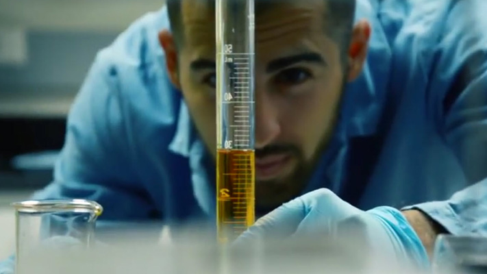 SOLUR image of student in lab.
