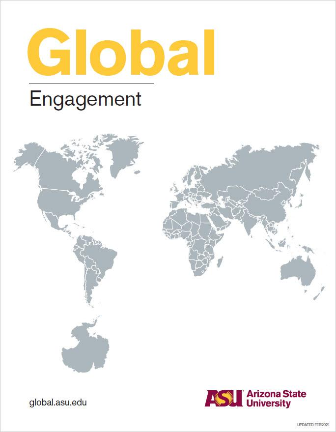 ASU Global Engagement booklet cover.
